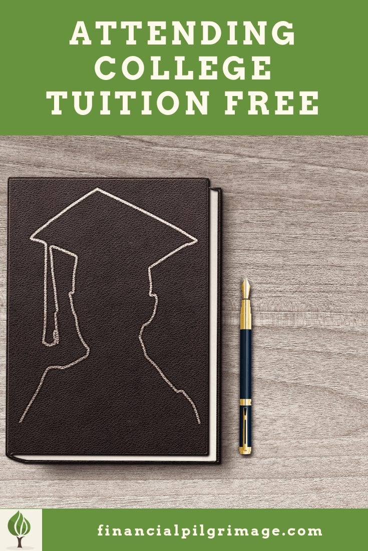 Pin of college tuition free journal