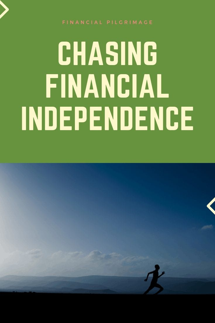 A man sprinting while chasing financial independence