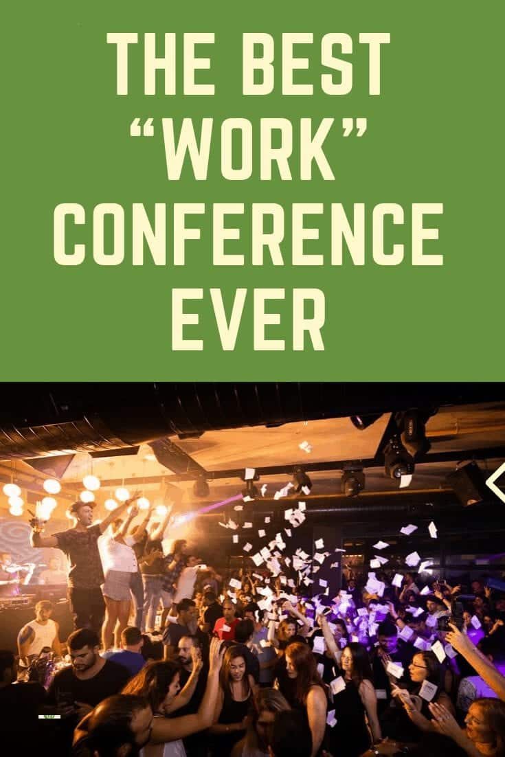 Pinterest image of a fun conference such as FinCon 2019