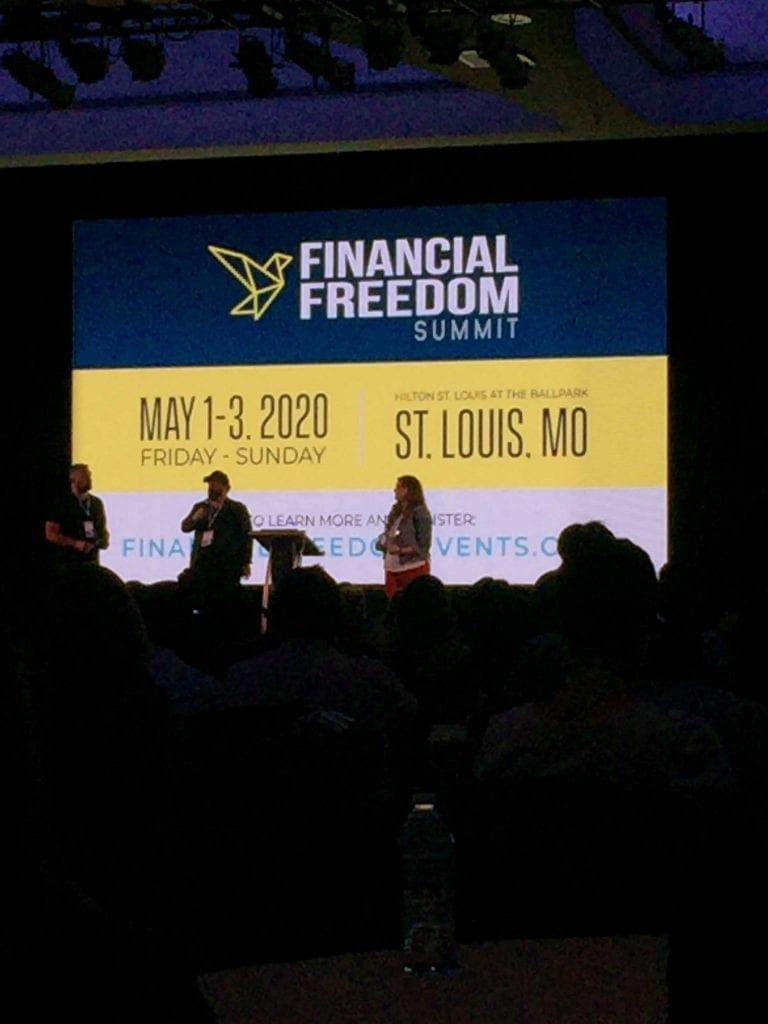 FinCon 2019 closing ceremony photo featuring the Financial Freedom Summit