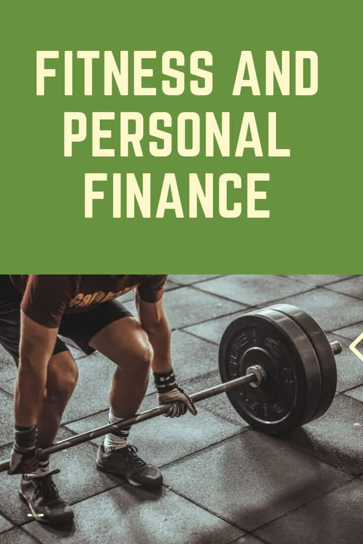 Pinterest image of fitness and personal finance