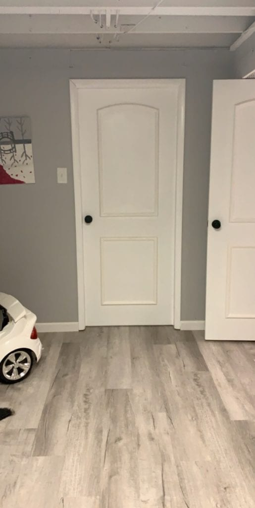 Updated old wood door